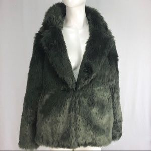 Forever 21 exclusive faux fur coat large l